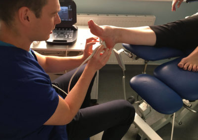 Diagnosing using ultrasound